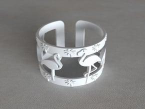 Flamingo Bracelet in White Processed Versatile Plastic