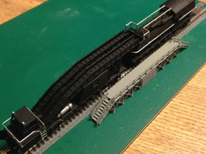 Snow Melter Tank Car Z Scale in Smooth Fine Detail Plastic