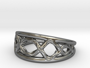 Infinity ring in Fine Detail Polished Silver