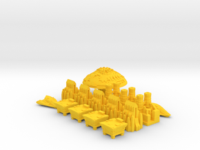 Space Game Pieces in Yellow Processed Versatile Plastic