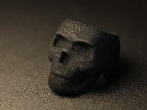 Skull Ring Size 8.25 in Black Natural Versatile Plastic