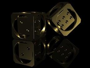 1 Step Die 12mm in Polished Gold Steel