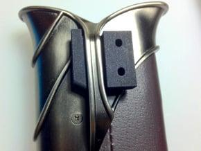 Sting Scabbard mounting bracket in Black Natural Versatile Plastic