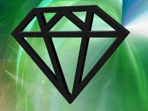 Diamond Pendant in White Natural Versatile Plastic