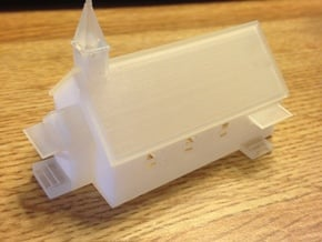 Small Country Church in Smooth Fine Detail Plastic