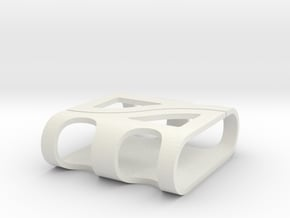 Cable Cage in White Natural Versatile Plastic