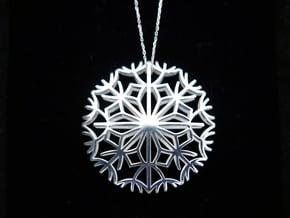 Dandelion seeds pendant in Polished Silver