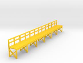 N Scale Train Maintenance Platform in Yellow Processed Versatile Plastic