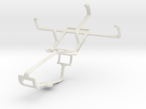 Controller mount for Xbox One & Lava Iris 349+ in White Natural Versatile Plastic