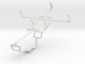 Controller mount for Xbox One & Lava Iris 349S in White Natural Versatile Plastic