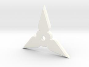 Shuriken Pendant in White Processed Versatile Plastic