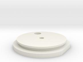 Main Endcaps Assem Right in White Natural Versatile Plastic