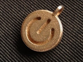 Power switch pendant in Polished Bronzed Silver Steel