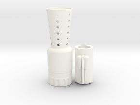 Flash Hider Merr Sonn With Barrel in White Processed Versatile Plastic