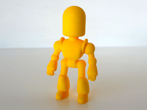 Toy Robot in Yellow Processed Versatile Plastic