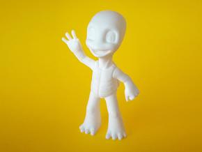 Friendly 3D Printed Turtle Figurine in White Processed Versatile Plastic