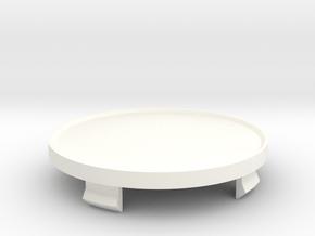 Fondmetal 4000 Centre Cap in White Processed Versatile Plastic