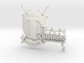 Titan Solutions Emblem in White Natural Versatile Plastic