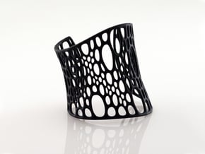 Subdivision Cuff in Black Natural Versatile Plastic: Medium