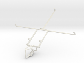 Controller mount for PS3 & Sony Xperia Tablet S in White Natural Versatile Plastic