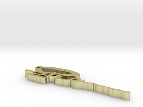 Signature Ring key in White Natural Versatile Plastic
