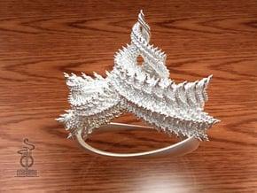 Zenith crown : A 3D fractal design  in White Natural Versatile Plastic