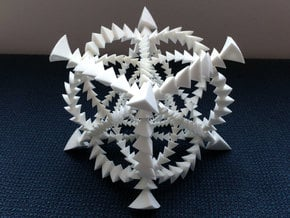 Tetrahedron Rotations in S^3: 24-cell in White Natural Versatile Plastic