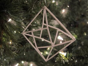 Diamond Christmas Ornament in White Natural Versatile Plastic