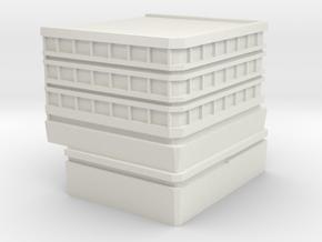 Hospital: Modular Right in White Natural Versatile Plastic