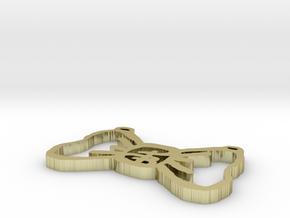 PB Single Bow Tie 1 inch in White Natural Versatile Plastic