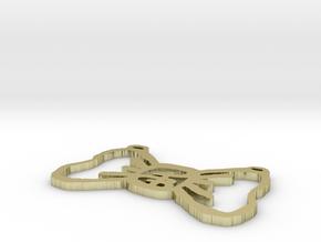PB Single Bow Tie 1.5 Inch in White Natural Versatile Plastic