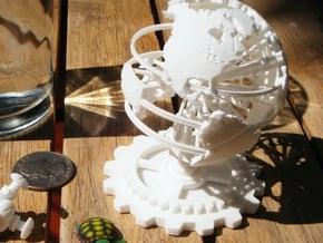 Steampunk World Small 6x6x7 in White Natural Versatile Plastic