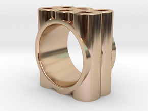 GOTHIC RING - SIZE 7 in 14k Rose Gold Plated Brass