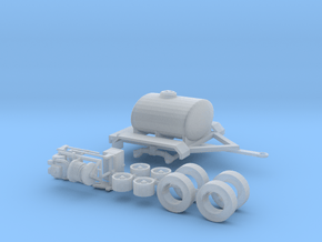1/64th Water Tender, Fire Support, Fertilizer Tank in Smooth Fine Detail Plastic