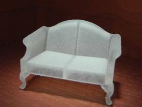 1:48 Queen Anne Loveseat in Smooth Fine Detail Plastic