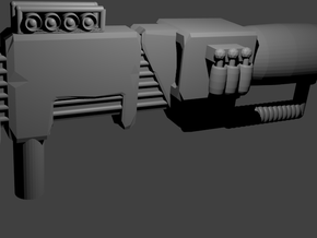 Electron Assault Rifle (with stand) for Transforme in White Natural Versatile Plastic