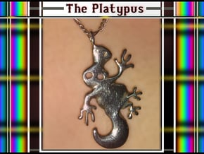 The Platypus  ( Ornithorhynchus Anatinus ) in Polished Silver