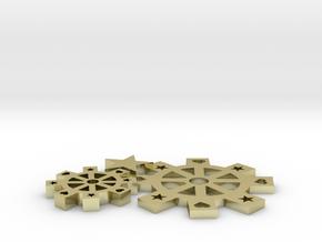 GearsPendant in White Natural Versatile Plastic