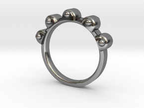 Jester Ring - Sz. 9 in Fine Detail Polished Silver