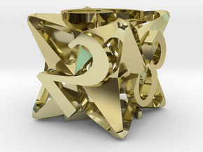 Pinwheel d6 in 18K Gold Plated