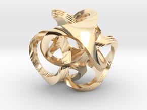 Ora, textured in 14k Gold Plated Brass