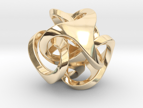 Ora Pendant (smaller) in 14k Gold Plated Brass