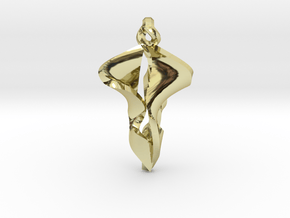 Pendant, Stylized 2 in 18K Gold Plated