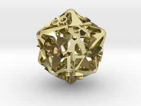 Pinwheel d20 in 18K Gold Plated