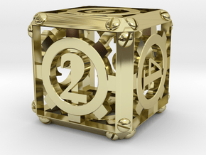 Steampunk d6 in 18K Gold Plated