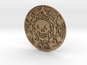 Pirates of The Caribbean Cursed Aztec Coin Jack in Polished Gold Steel