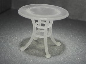 1:48 Rod Iron Table in Smooth Fine Detail Plastic