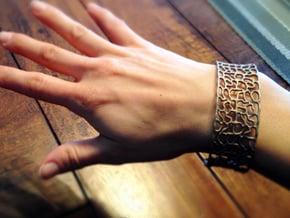 """Love Bracelet """"Hidden Heart""""  in Polished Bronzed Silver Steel"""