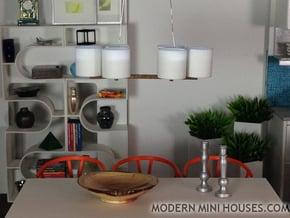 Pendant 6 - 1:12 scale modern hanging pendant lamp in White Processed Versatile Plastic
