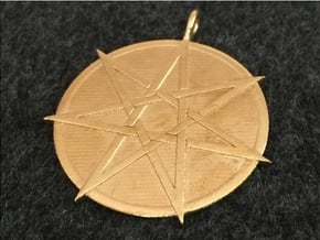 Fairy Star Pendant in Natural Brass